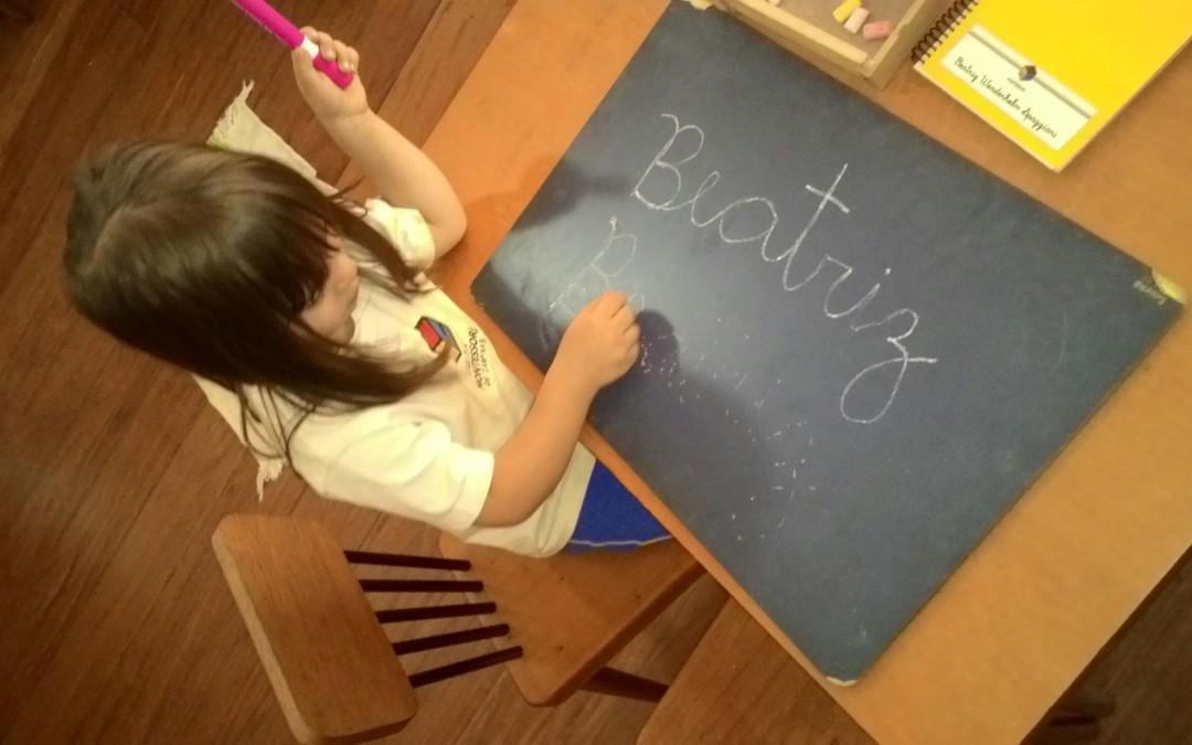 Linguagem – Escrever o Nome