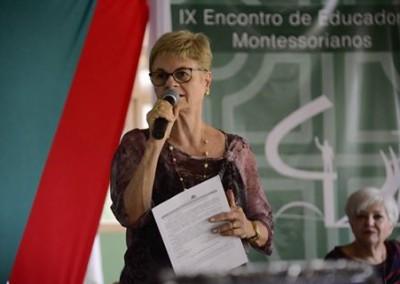 Sônia Braga - Presidente da Organização Montessori do Brasil