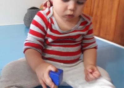 Haste Vertical para Encaixe de Cubos Azuis
